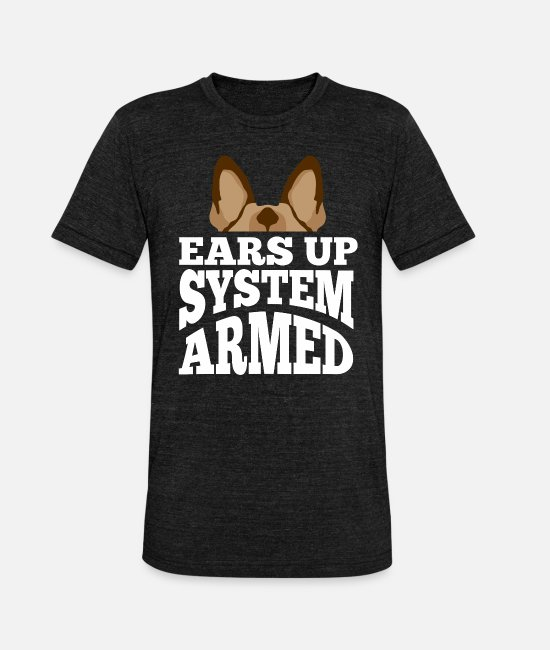 German Shepherd T-Shirts - German shepherd guard dog security dog - Unisex Tri-Blend T-Shirt heather black