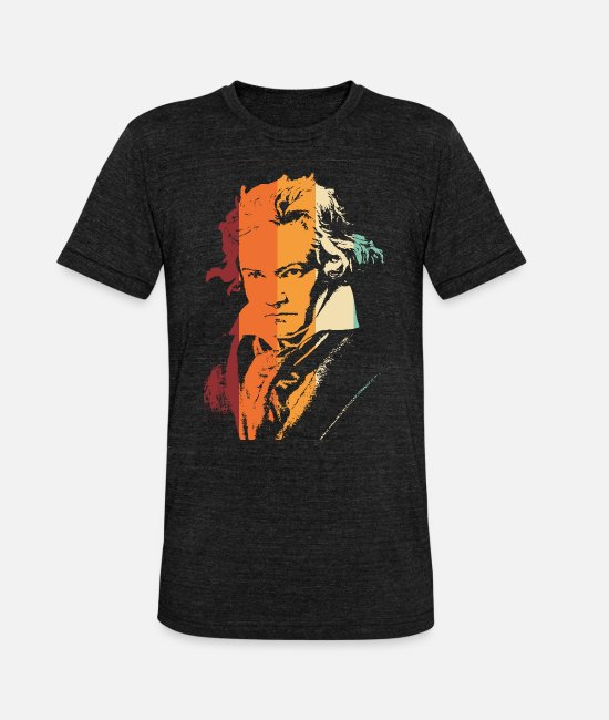 Madness T-Shirts - Beethoven vintage - Unisex Tri-Blend T-Shirt heather black
