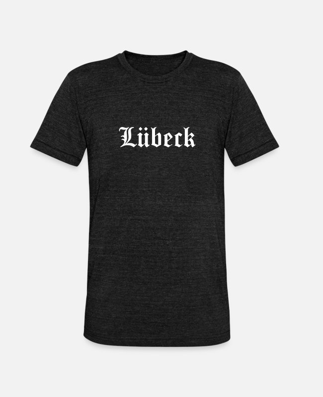 Germania T-Shirts - Lubeck - Unisex Tri-Blend T-Shirt heather black