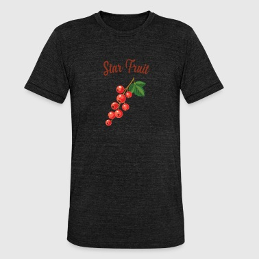 Fruit Kers Grappig Grappig fruit - Unisex tri-blend T-shirt van Bella + Canvas