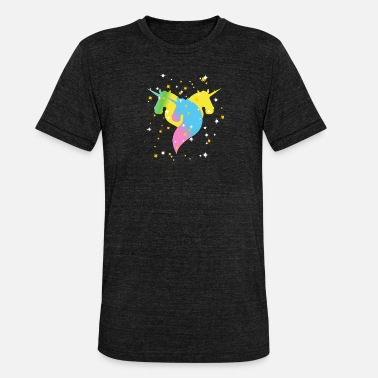 Brillant Licorne Brillante Et Brillante - T-shirt chiné unisexe