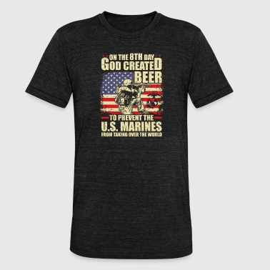 Marines - Unisex tri-blend T-skjorte fra Bella + Canvas