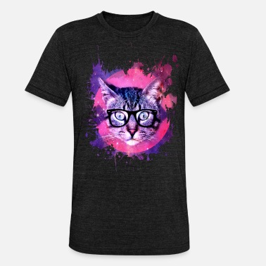 Meow Cat Cat Pop Art - Unisex Tri-Blend T-Shirt