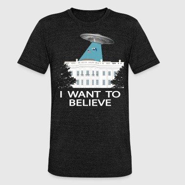 Anti Trump : I want to believe - T-shirt chiné Bella + Canvas Unisexe