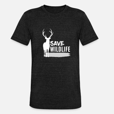 Red Head Deer - Deer / Save Wildlife - Unisex Tri-Blend T-Shirt