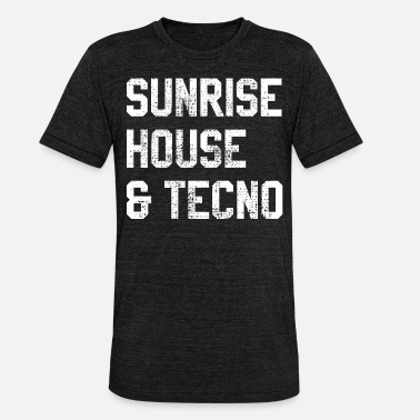 Techno House House music techno afterhour - Maglietta unisex tri-blend di Bella + Canvas