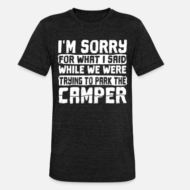 Campground Motorhome caravan campground - Unisex Tri-Blend T-Shirt