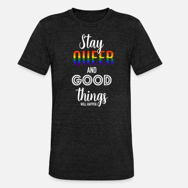 Coming Out Queer LGBT Gay Pride CDS Rainbow Coming Out - Unisex triblend T-skjorte
