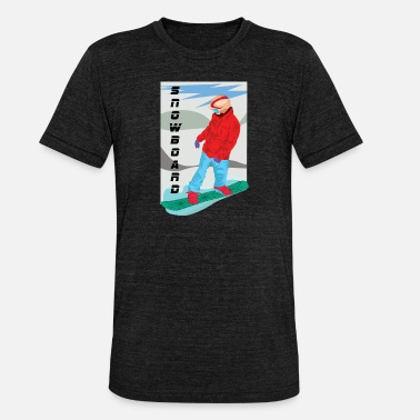 Deportes Recreativos Snowboarding el deporte recreativo en invierno - Camiseta Tri-Blend unisex de Bella + Canvas