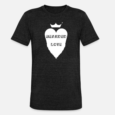Love The Beard BEARDED LOVE - Unisex Tri-Blend T-Shirt by Bella & Canvas