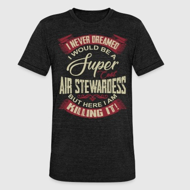 Stewardess Stewardess - stewardess - Unisex tri-blend T-shirt van Bella + Canvas