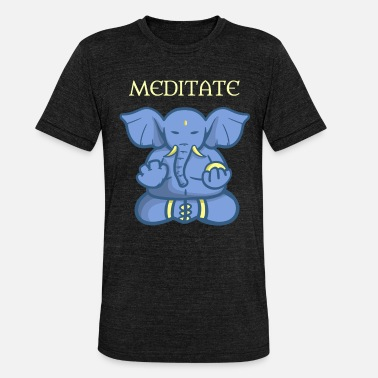 Meditation Meditation elephant India gift - Unisex Tri-Blend T-Shirt by Bella & Canvas