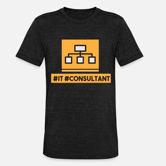 Mail T-Shirts - IT Consultant - Unisex Tri-Blend T-Shirt heather black