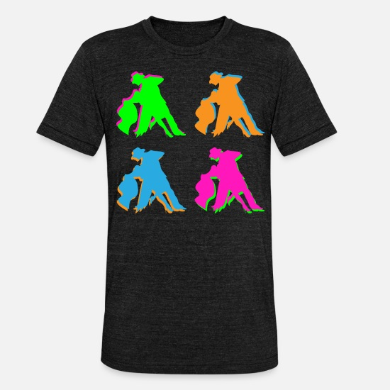 Partnership T-Shirts - Dancing couple - Unisex Tri-Blend T-Shirt heather black