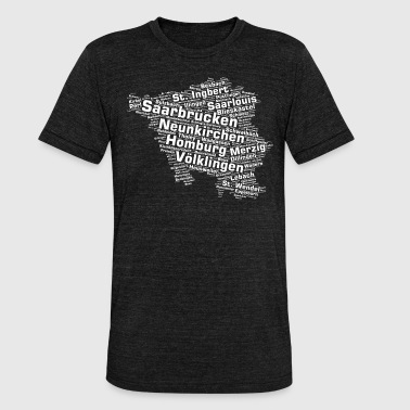 Saarland State: Saarland Cities - Unisex Tri-Blend T-Shirt by Bella & Canvas