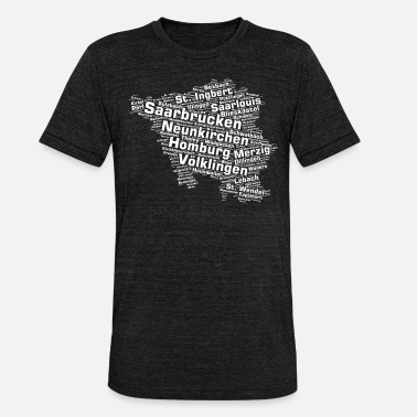 Saar Saarland State: Saarland Cities - Unisex tri-blend T-shirt fra Bella + Canvas