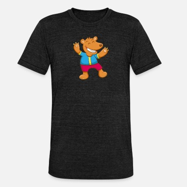 Comic Bear comic - Unisex Tri-Blend T-Shirt