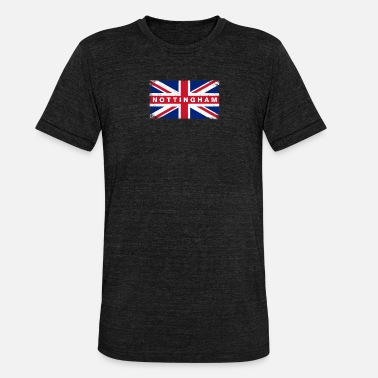 Nottinghamshire Nottingham Shirt Vintage United Kingdom Flag - Unisex Tri-Blend T-Shirt by Bella & Canvas