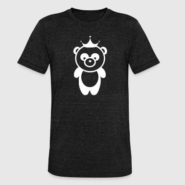 Panda bear panda bear crown - Unisex Tri-Blend T-Shirt by Bella & Canvas