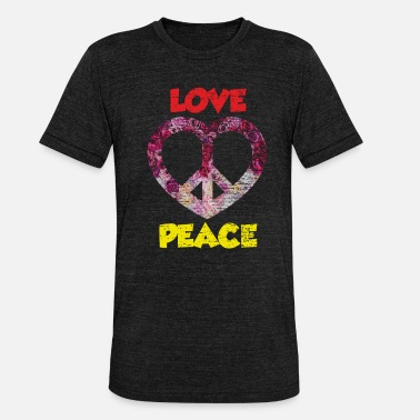 Peace Hippie Love Peace Peace Gift 90-tallet - Unisex triblend T-skjorte