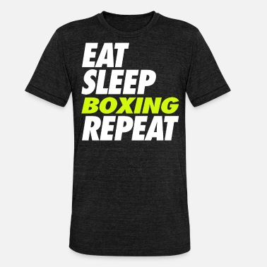 Sparingi Eat Sleep Boxing Repeat - Koszulka triblend unisex
