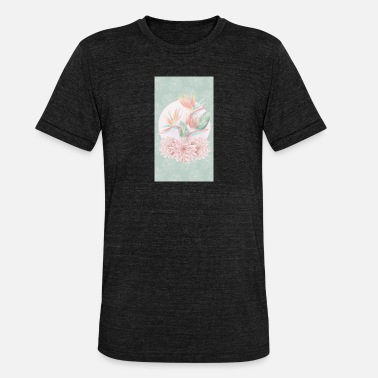 Original Art Original flowers art - Unisex Tri-Blend T-Shirt