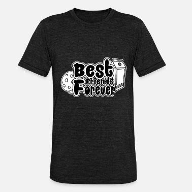 Cookie and Milk - Best Friends Forever - Unisex T-Shirt meliert