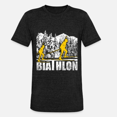 Pursuit Pursuit biathlon - Unisex Tri-Blend T-Shirt