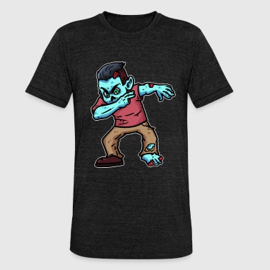 Custom Zombie Halloween zombie - Unisex Tri-Blend T-Shirt by Bella & Canvas