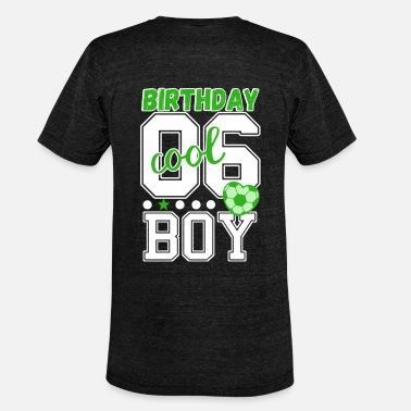 Age 6th birthday number 06 - Unisex Tri-Blend T-Shirt