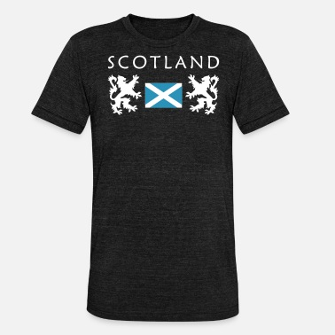 Schwarz Scotland William Wallace T-Shirt - Unisex T-Shirt meliert