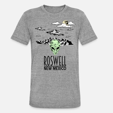 Roswell Roswell Alien Conspiracy Alien UFO - Unisex Tri-Blend T-Shirt by Bella & Canvas