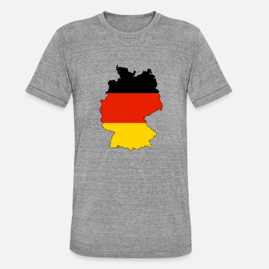 Black Gold Germany in black red gold - Unisex Tri-Blend T-Shirt by Bella & Canvas