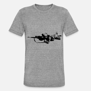 Military Police US soldier sniper military marines - Unisex Tri-Blend T-Shirt by Bella & Canvas