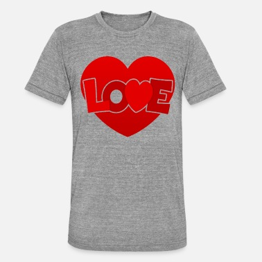 Love With Heart Love with heart - Unisex Tri-Blend T-Shirt