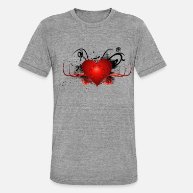 Grunge Wonderful decorative heart with grunge. - Unisex Tri-Blend T-Shirt