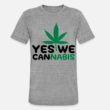 Yes We Cannabis Yes We Cannabis! - Unisex triblend T-skjorte