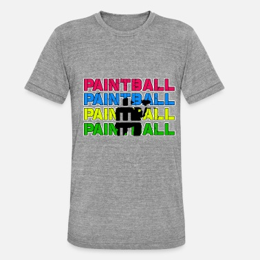 Paintball Paintball Paintball Paintball Paintball - Unisex T-Shirt meliert
