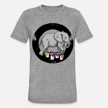 Kunstakademiet Elephant Artist Brush Painter Art Academy - Unisex triblend T-shirt
