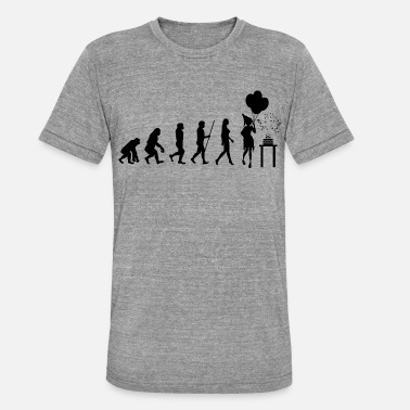Party Evolution Evolution Birthday Birthday Party cake - Unisex Tri-Blend T-Shirt by Bella & Canvas