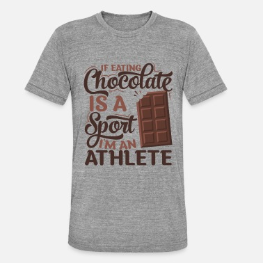 Sportieve atleet Chocolate - Unisex tri-blend T-shirt van Bella + Canvas