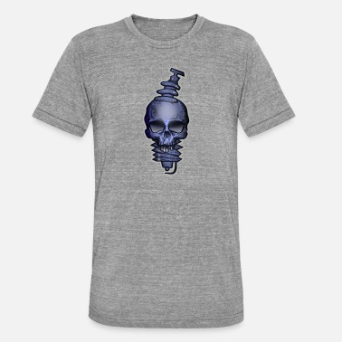 Sparking candle Skull - Unisex Tri-Blend T-Shirt