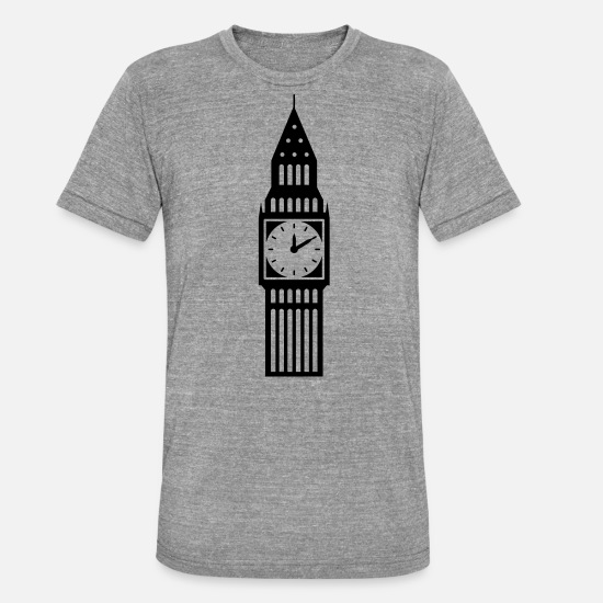 Big Ben T-Shirts - london - Unisex Tri-Blend T-Shirt heather grey