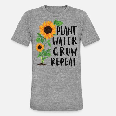 Havearbejde Plant Water Grow Repeat Havearbejde Solsikke Have - Unisex triblend T-shirt