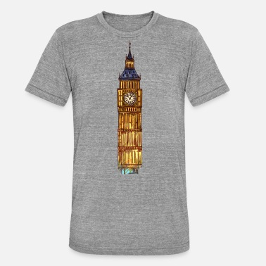 Ben London England Big Ben - Unisex T-Shirt meliert