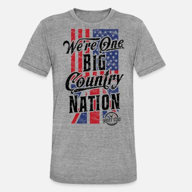 Rusty Country Nation Ladies Scoop Tee - Unisex Tri-Blend T-Shirt