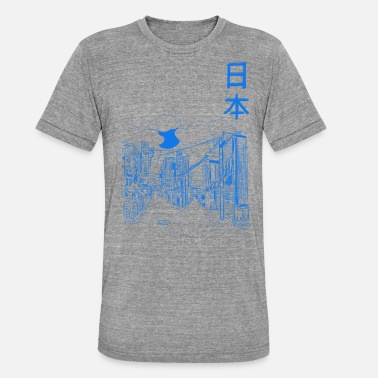 Gratteciel Japon - T-shirt chiné Bella + Canvas Unisexe