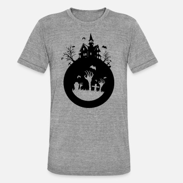 Haunted House haunted house - Unisex Tri-Blend T-Shirt