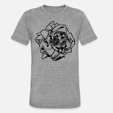 Rose Tattoo Rose - Tattoo - Maglietta unisex tri-blend di Bella + Canvas