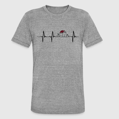 Architecture Funny Heartbeat Architecture - Unisex Tri-Blend T-Shirt by Bella & Canvas